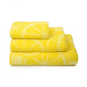 Полотенце махровое Lemon color, 100х150 см, цвет жёлтый