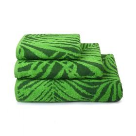 Полотенце махровое Tropical color, 100х150 см, цвет зелёный