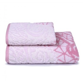 Полотенце махровое Antique lace, 70х130 см, цвет розовый