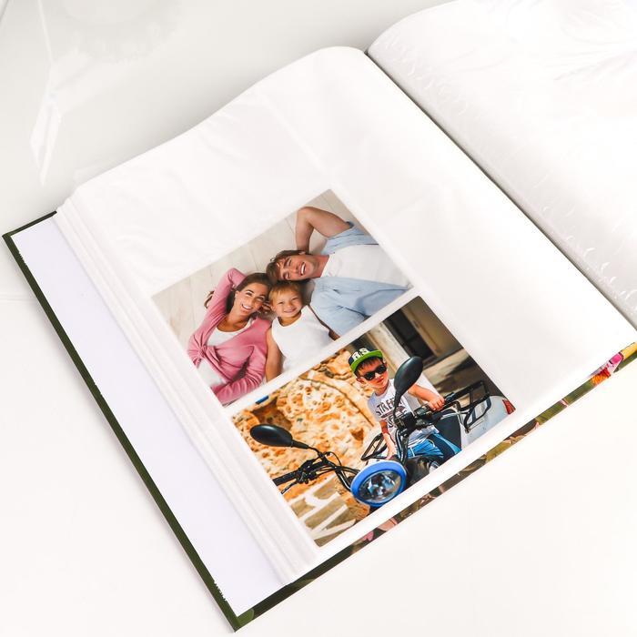 """Фотоальбом на 480 фото 10х15 + 10 фото 15х21 в коробке """"Цветы"""" МИКС"""