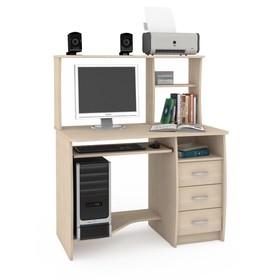 Стол компьютерный Комфорт 4, 1050х650х1249, Дуб паллада