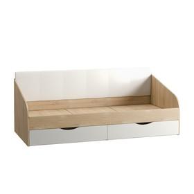 Кровать Линда, 2038х942х866, Дуб сонома/Белый