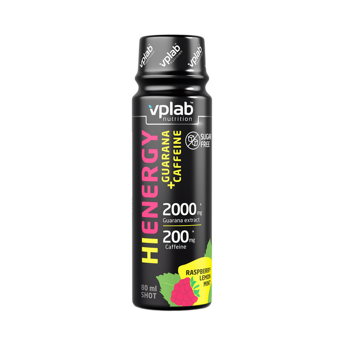 VPLAB HiEnergy Guarana+Caffeine Shot / 80мл