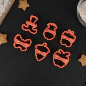 Набор форм для вырезания печенья, 6 шт, цвет МИКС