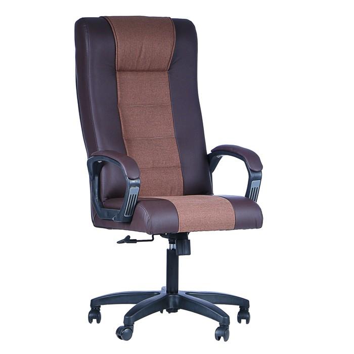 """Кресло руководителя """"Стаффорд"""", экокожа, коричневый МК-060"""