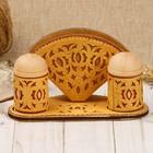 Набор для стола «Узорный», 3 предмета, 16х7х9 см, береста