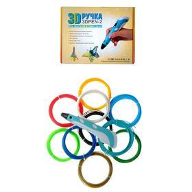 Set 3D pen NIT-PEN2 blue + plastic 10 colors PLA