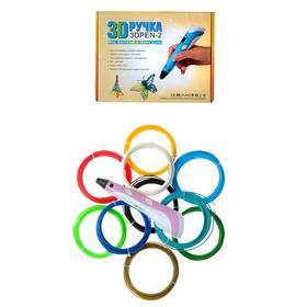 Set 3D pen NIT-PEN2 pink + 10 colors plastic PLA