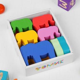 Логический набор «Строим. Слоны» 12 деталей