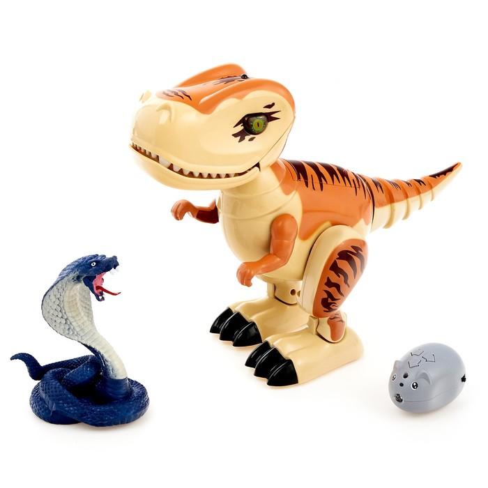 Динозавр радиоуправляемый «Робозавр», световые и звуковые эффекты, работает от батареек