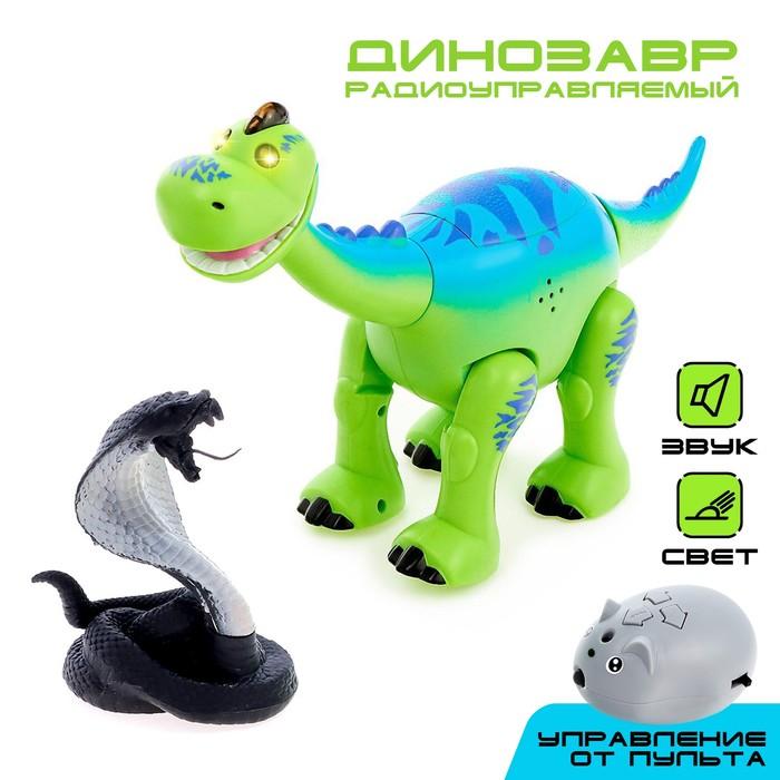 Динозавр радиоуправляемый «Майк», световые и звуковые эффекты, работает от батареек