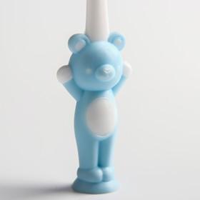 Детская зубная щетка на присоске «Мишка», с защитным колпачком, цвет МИКС - фото 7311099