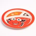 """Набор бамбуковой посуды """"Крабик"""",тарелка, миска, кружка, приборы, 5 предметов - фото 105459471"""