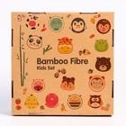 """Набор бамбуковой посуды """"Крабик"""",тарелка, миска, кружка, приборы, 5 предметов - фото 105459477"""
