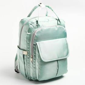 Backpack for baby things, with hooks for stroller, color turquoise