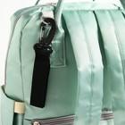 Сумка-рюкзак для вещей малыша, с крючками для коляски, цвет бирюзовый - фото 105543010