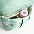Сумка-рюкзак для вещей малыша, с крючками для коляски, цвет бирюзовый - фото 105543012