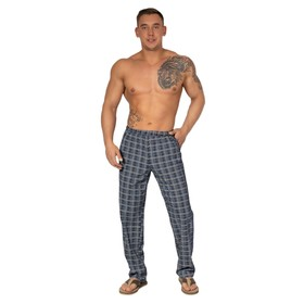Pants, cage on black, height 176, size 58