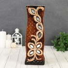 "Vase ceramics table ""Druid"" 9,5*30 cm branch with flower (2 types)"