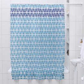 Штора для ванной комнаты Доляна «Узоры», 180×180 см, EVA
