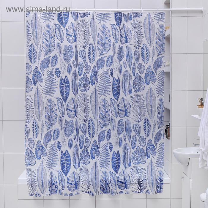 """Blind for the bathroom """"Magical forest"""", 180х180 cm, EVA"""