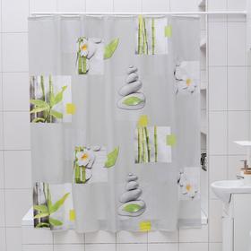 Штора для ванной комнаты Доляна «Умиротворение», 180×180 см, EVA - фото 4654751