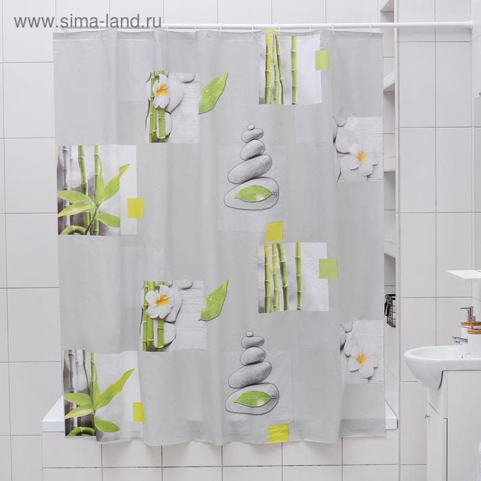 """Blind for the bathroom """"Pacification"""", 180х180 cm, EVA"""