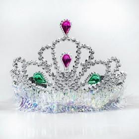 Корона 'Королева', цвет серебро Ош