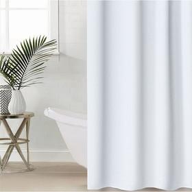 """Штора для ванной 180×180 см """"Экономь"""", PEVA, цвет белый"""