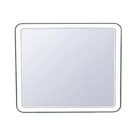 """Зеркало """"Атлантика 90*70"""" с подсветкой и часами"""