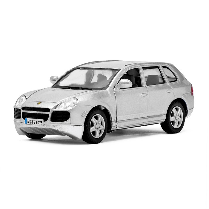 Машина металлическая Porsche Cayenne Turbo, масштаб 1:38, открываются двери, инерция, цвет серебристый - фото 105651210