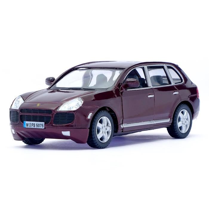 Машина металлическая Porsche Cayenne Turbo, масштаб 1:38, открываются двери, инерция, цвет бордовый - фото 105651217