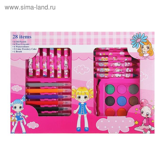 Набор для детского творчества 28 предметов, для девочек