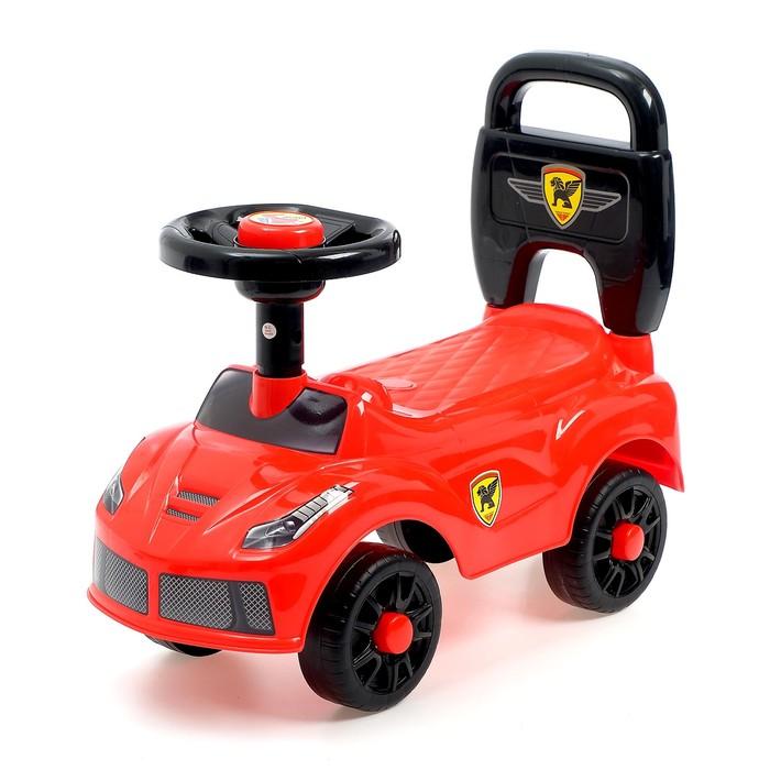Толокар «Ночной гонщик», звуковые эффекты, цвет красный - фото 105642374