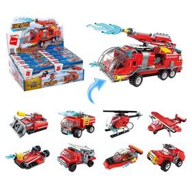 Конструктор Пожарные «Транспорт», 8 видов МИКС