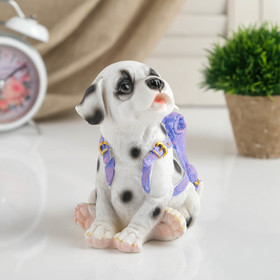 """Piggy """"Puppy dolmatinets with a backpack"""" 15.5 cm."""