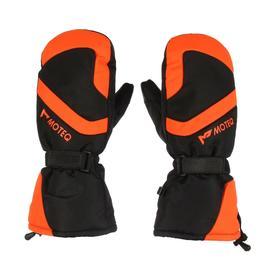 Зимние рукавицы БОБЕР чёрный, оранжевый, L
