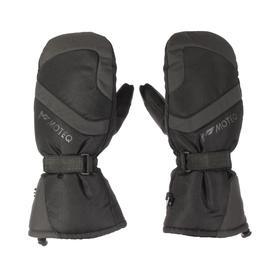 Зимние рукавицы БОБЕР чёрный, серый, L