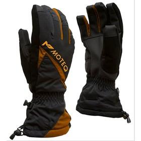 Зимние перчатки СНЕЖОК чёрный, оранжевый, M