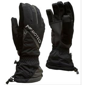 Зимние перчатки СНЕЖОК чёрный, серый, M