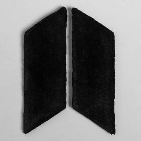 Петлицы чёрные  однотонные сукно пара Ош