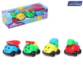Машинки детские, набор 4 шт., МИКС