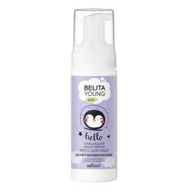 Мицеллярный мусс для лица Bielita Young Skin «Эксперт матовости кожи», очищающий, 175 мл