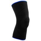 Наколенник эластичный SPORT, чёрный/синий, размер 8
