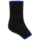 Голеностоп эластичный SPORT, чёрный/синий, размер 2