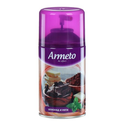 """Освежитель воздуха Armeto """"Шоколад и мята"""", сменный балон, 250 мл"""