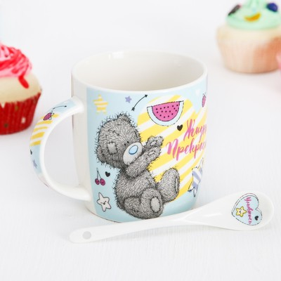 "Mug set with spoon Me To You ""Life is beautiful"", 350 ml"