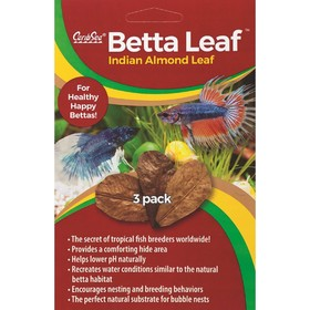 Листья индийского миндаля Caribsea BETTA LEAF 3 штуки в упаковке