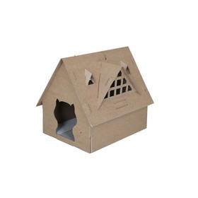 Домик-конструктор Fauna ZORTO для кошек, картон, 53 x 43 x 46 см