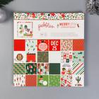 Набор бумаги для скрапбукинга Pebbles - Коллекция «Merry Little Christmas» - 30.5х30.5 см